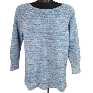 GAP Women's Sweater Blue Knit Pull Ove